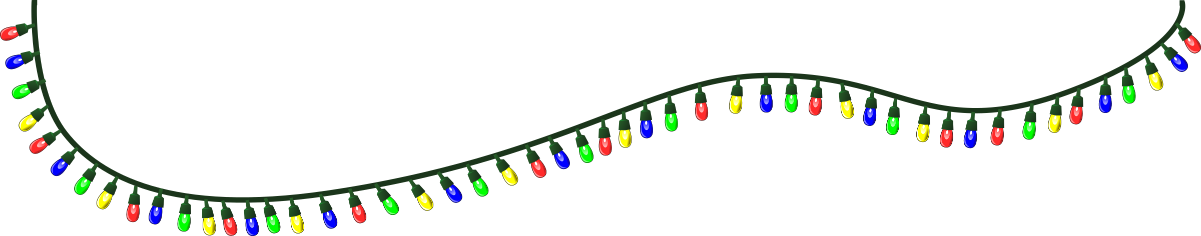 Christmas lights clipart tumundografico