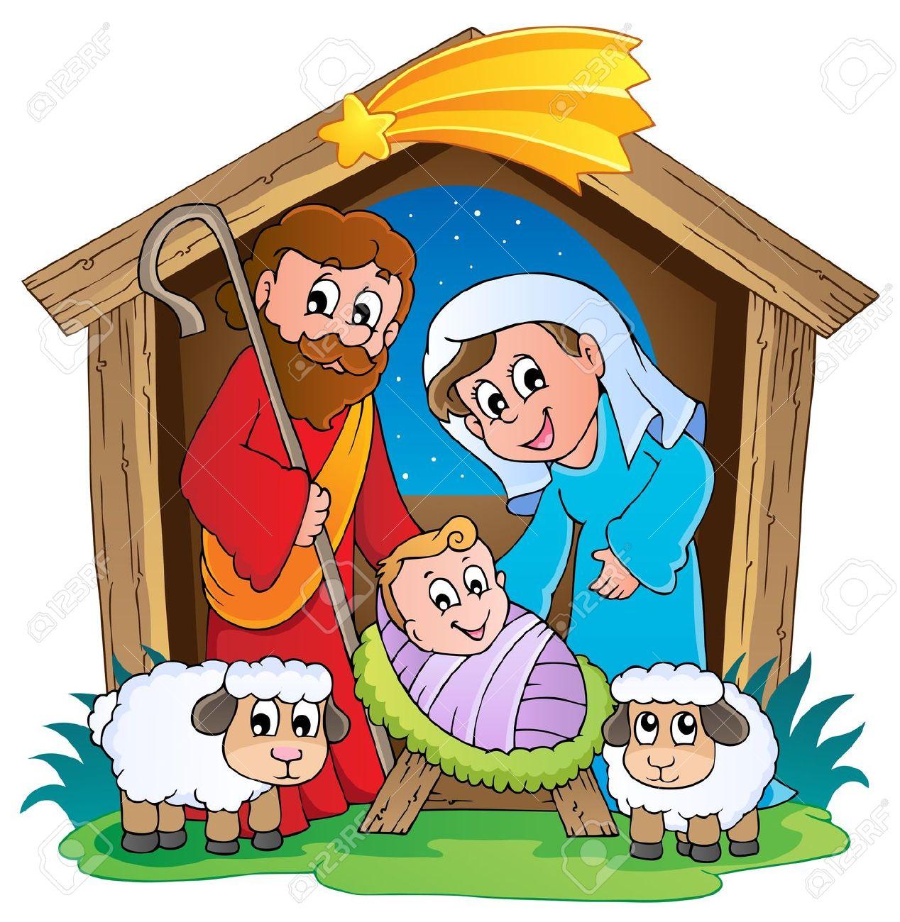 christmas nativity: Christmas Nativity scene 2 Illustration