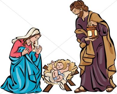 Christmas Nativity Scene Clip Art