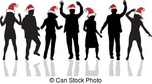 Christmas Party Stock Illustrationby ...