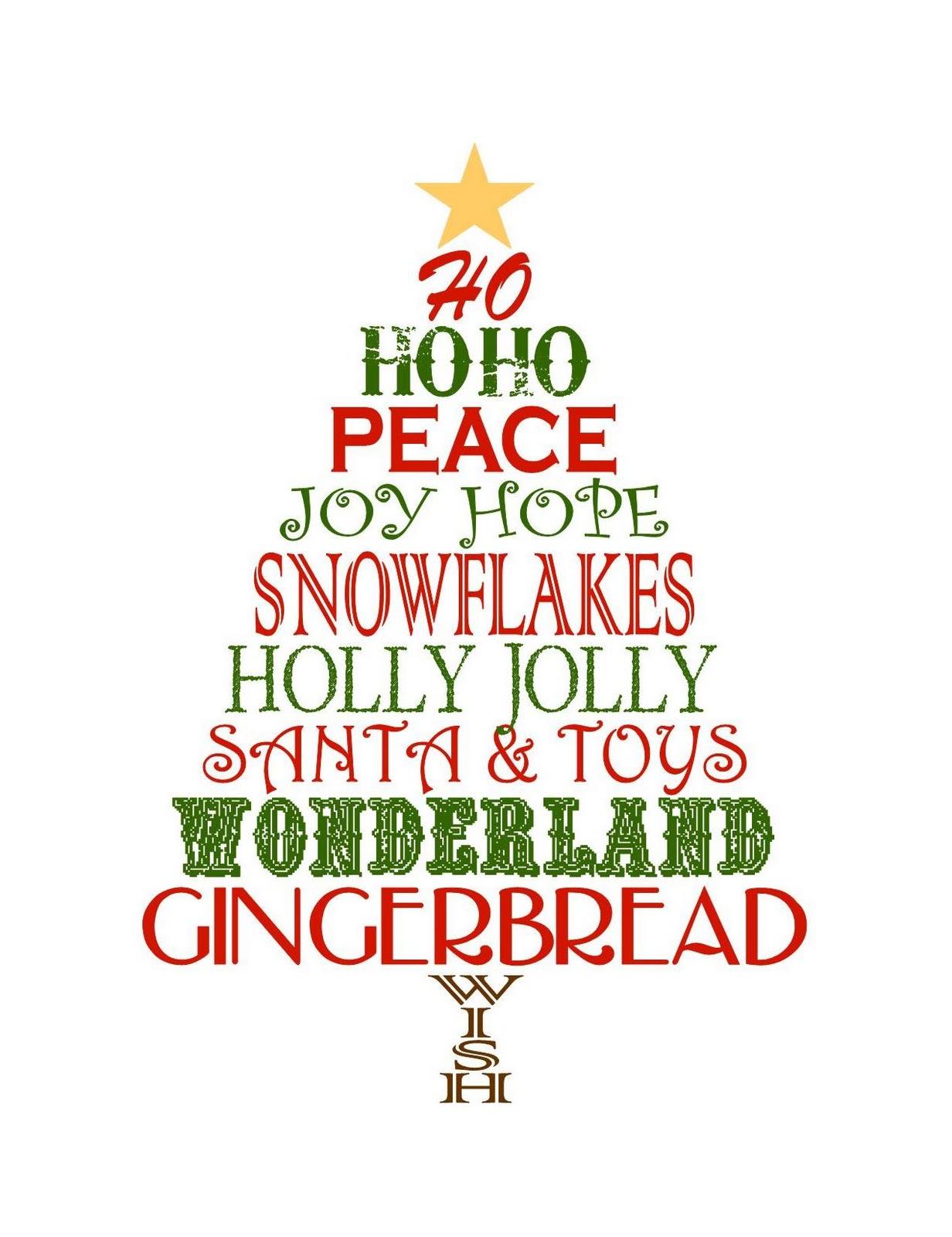 Christmas Printable Subway Art Printable Decor