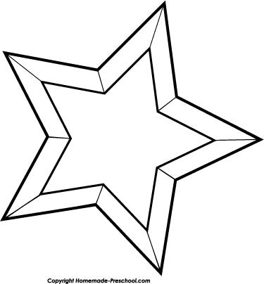 Christmas Star Clip Art Black And White Clipart Panda Free Clipart