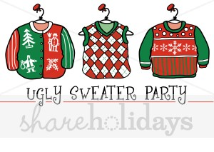Christmas Sweater Clipart Christmas Cardigan Clipart