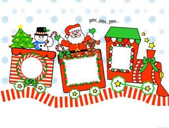 Christmas Train Clip Art