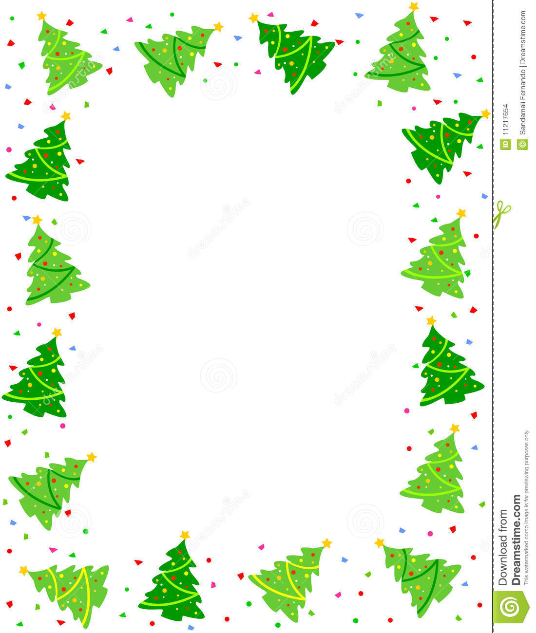 Christmas Tree Borders Clip Art Images Pictures Becuo