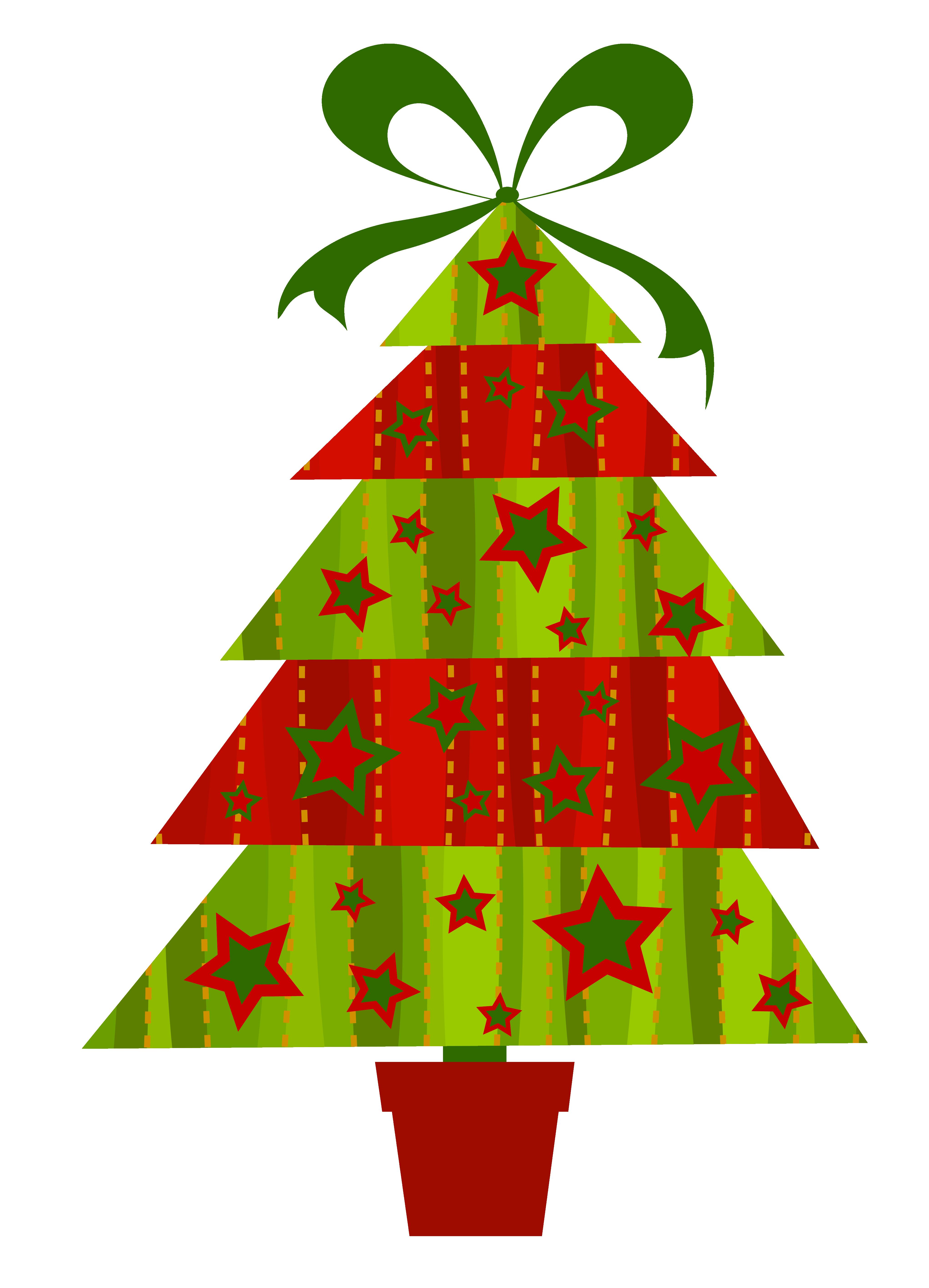 Christmas Tree Clip Art. Modern christmas tree .
