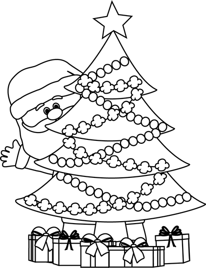 Christmas Tree Clipart Black And White-hdclipartall.com-Clip Art422