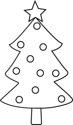 Black and White Clipart. Blac - Christmas Tree Clipart Black And White