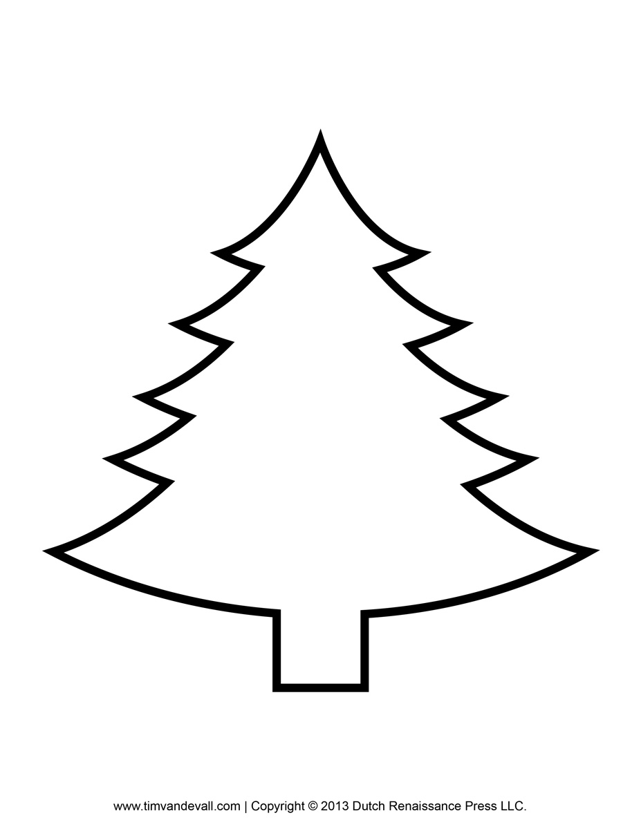 Christmas tree black and whit - Christmas Tree Clipart Black And White