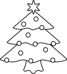 Christmas Tree Clip Art - Christmas Tree Clipart Black And White