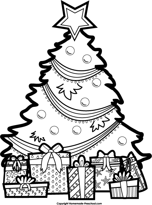 Christmas Tree Clipart #417 - Christmas Tree Clipart Black And White