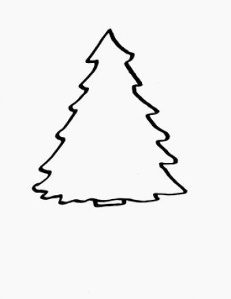 Clip Art Christmas Tree Outline | Clipart library - Free Clipart Images