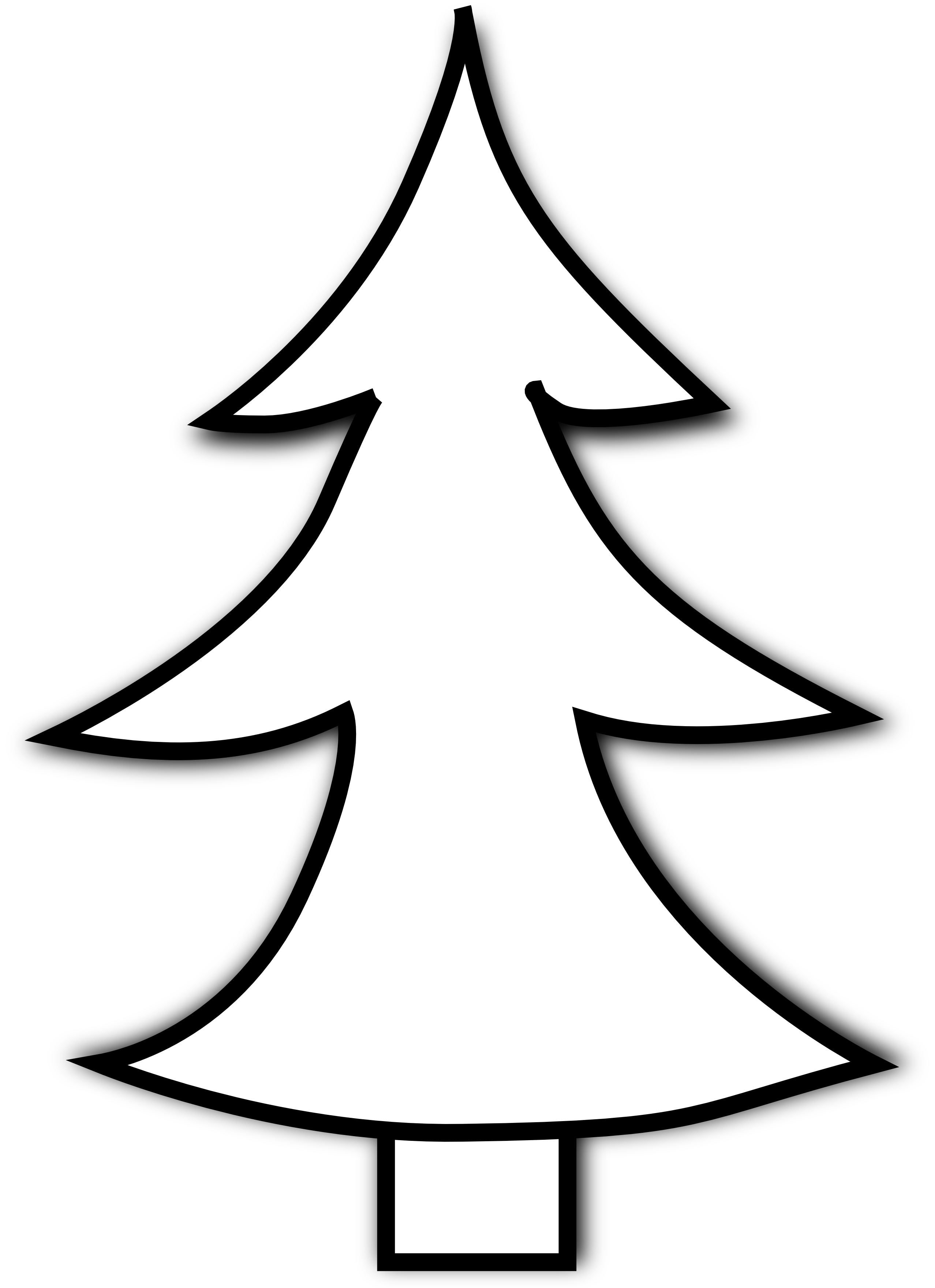 Tree black and white christmas tree clipart black and white free