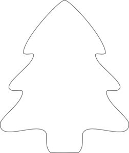 Christmas Tree Outline Clip .