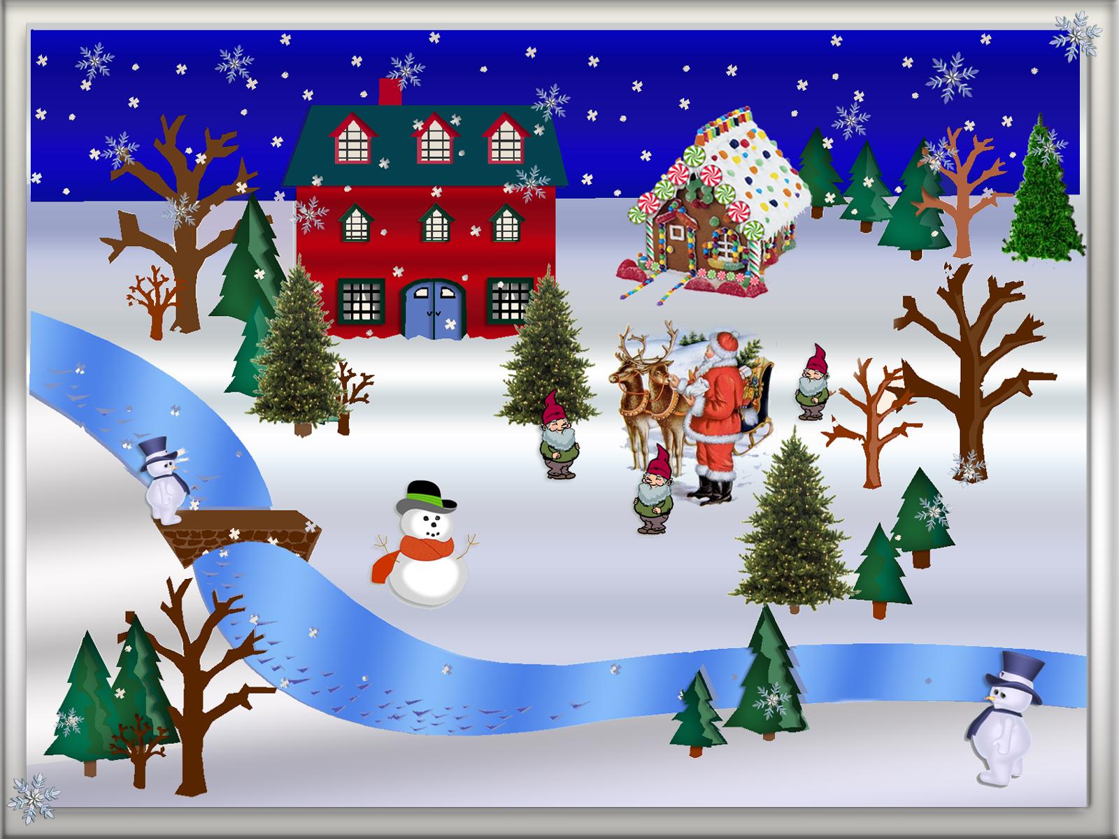 Christmas winter scene clipart - ClipartFest
