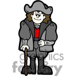 christopher columbus clip art. Christopher Columbus in color