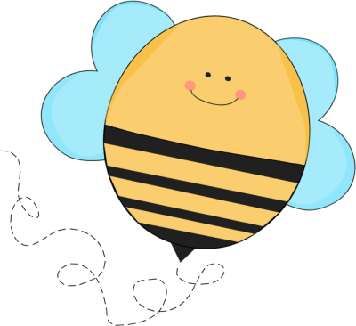 Chubby Flying Bee Clip Art Image Cute Round Chubby Flying Bee With