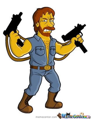 Chuck Norris level : Simpson - Chuck Norris Clipart