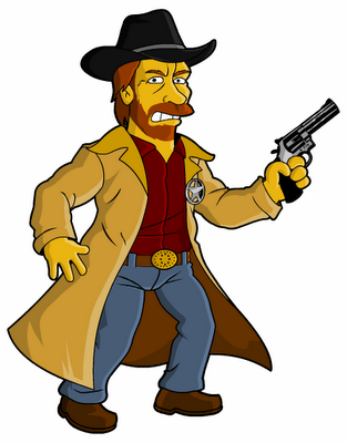 Chuck Norris on The Simpsons