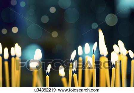 Stock Illustration - Church candles. Fotosearch - Search Vector Clipart,  Drawings, Print Murals
