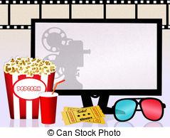 Cinema Clipartby vectomart14/1,076 Cinema - illustration of Cinema