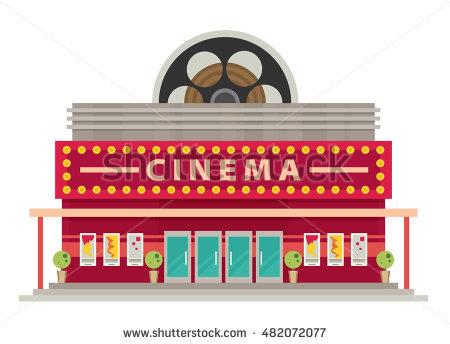 Outside clipart cinema #4