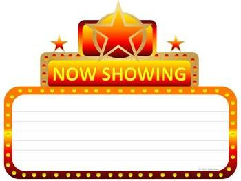 Cinema marquee graphic for .