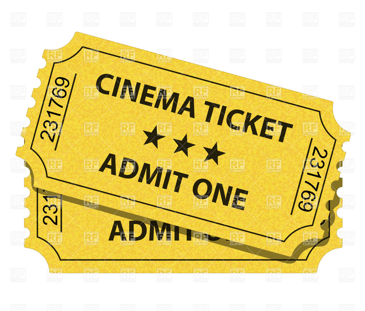 Cinema Ticket Download Royalty Free Vector Clipart Eps