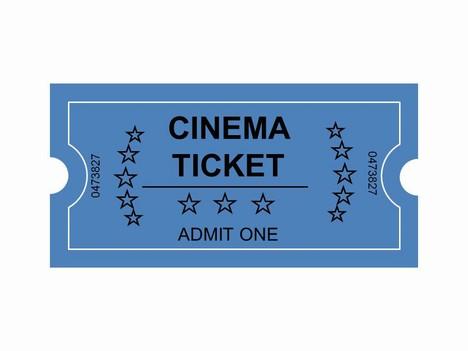Cinema Tickets Clip Art inside page