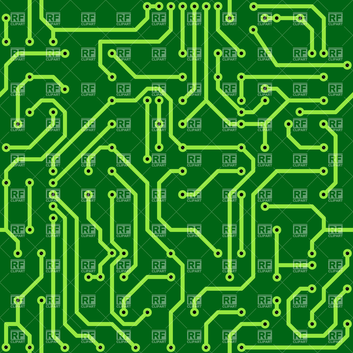 Abstract green circuit board background Royalty Free Vector Clip Art