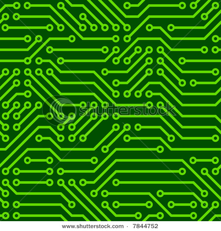 Seamless Background Graphic Depicting Printed Circuit Board - Vector Clipart  Illustration
