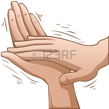 clap: A vector illustration of clapping hands