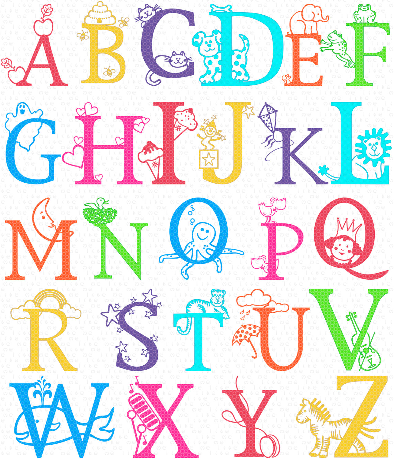 Class Alphabet Clipart Instant Download Teaching By Melikedesign