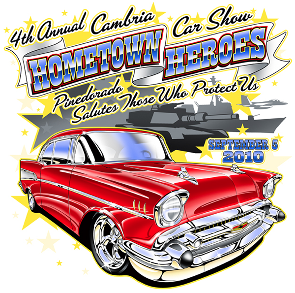 Classic Car 57 Chevy Clipart