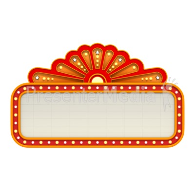Classic Movie Theater Marquee Sports And Recreation Great Clipart