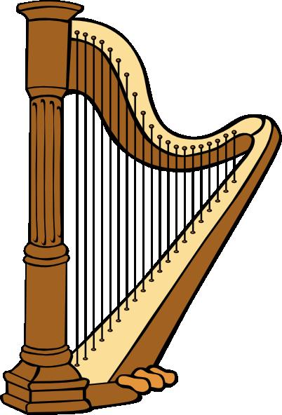 Classical Harp Clip Art At Clker Com Vector Clip Art Online Royalty