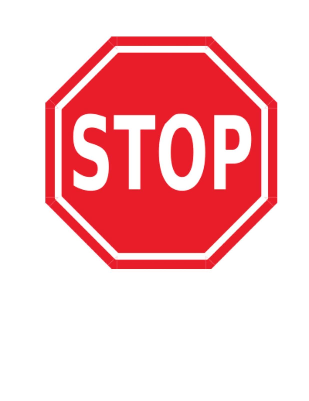 Classroom Freebies: Stop Sign Behavior Management Technique