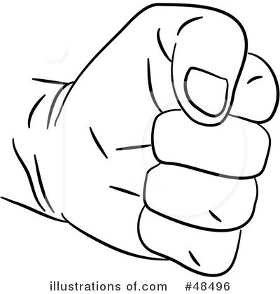 Clenched fist clipart kid