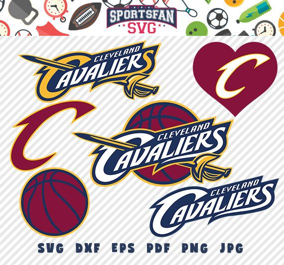 Cleveland Cavaliers svg pack- basket team, NBA basketball league,  basketball cut files vector