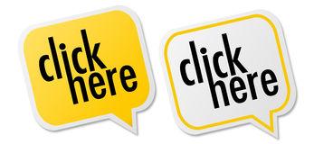 Click here button stock vector