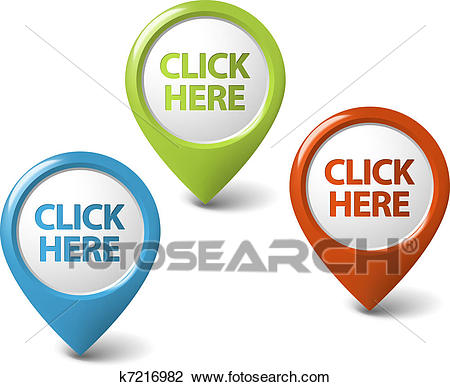 Click here clipart clipart of vector round 3d click here pointer k7216982  search ideas