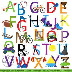 Clip art alphabet and student centered resources on