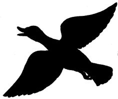 ... Clip art, Art and Silhouette; Flying Duck ...