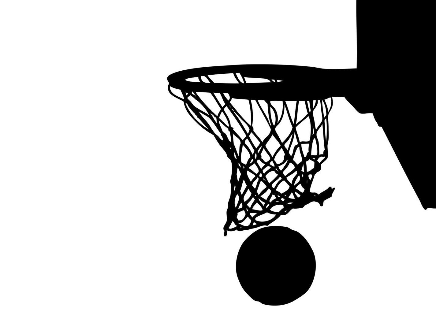 clip art basketball hoop backboard clipart black and white