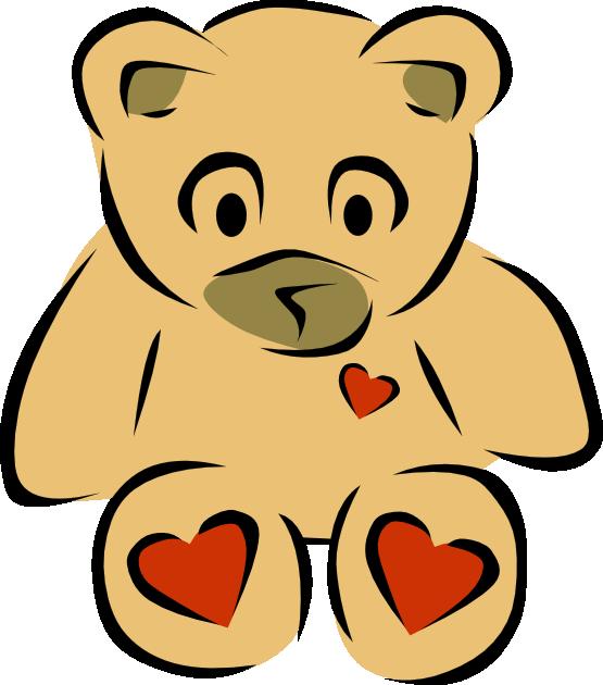 Clip Art Bear Heart 2 .