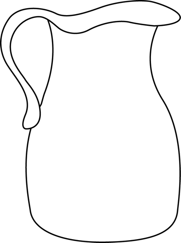 Clip Art Black And White Jug Clipart