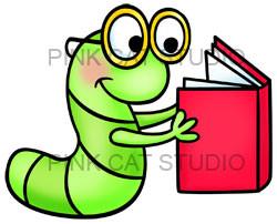 Clip art bookworm