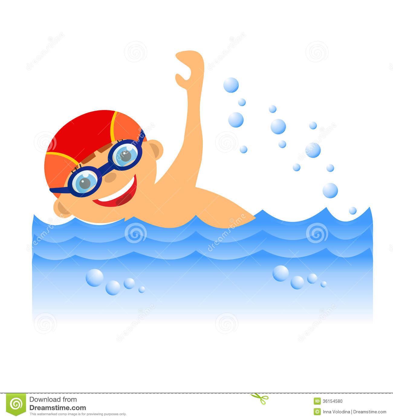 Clip Art Boy Swimming Boy .