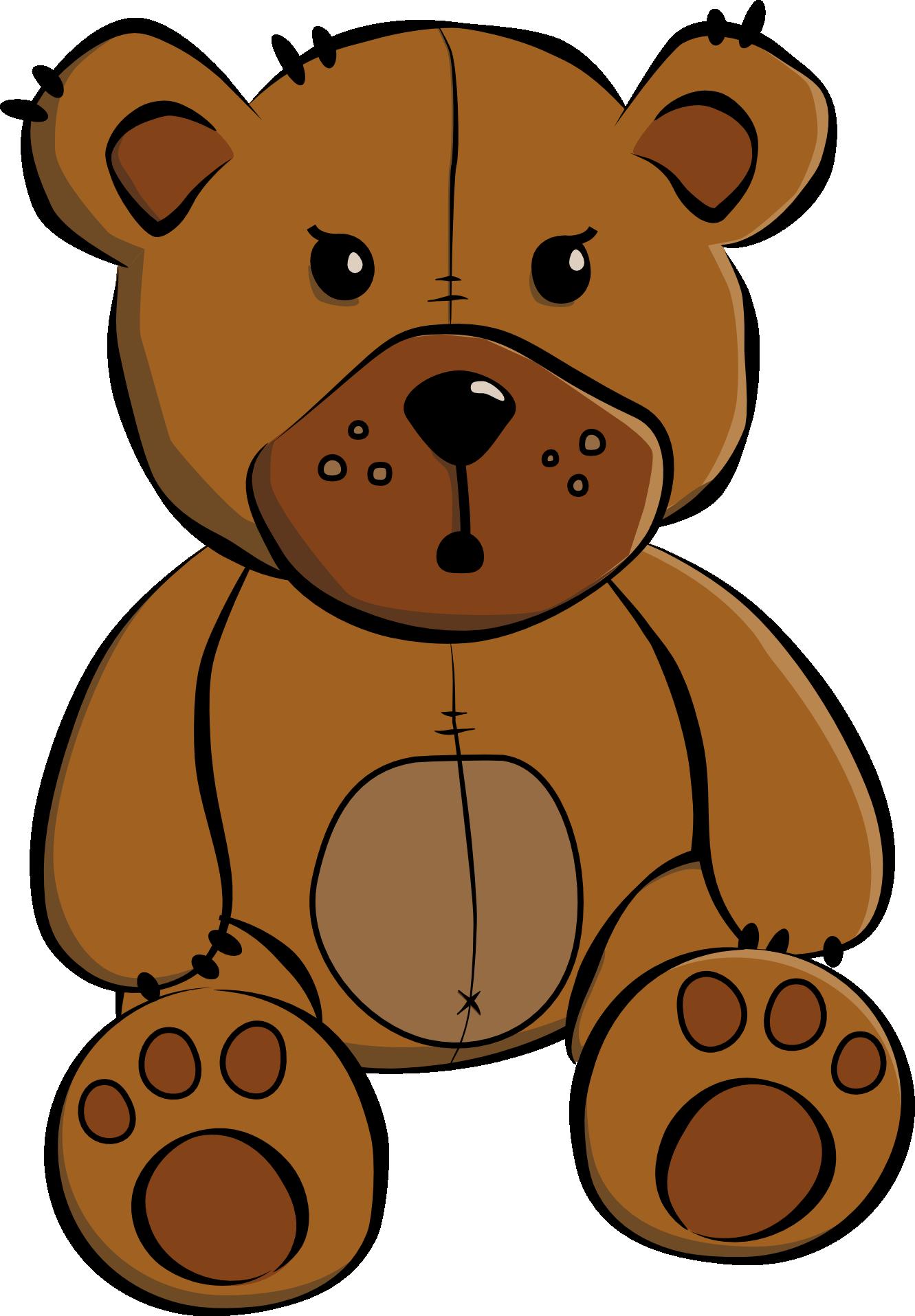 Clip art cartoon teddy bear .