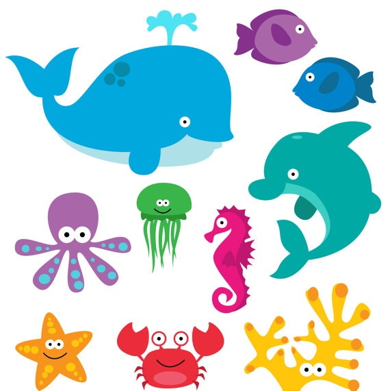 Clip Art Clipart Sea Creatures Clip Art Clipart Commercial Use